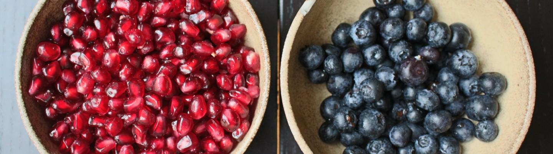 藍莓和紅石榴