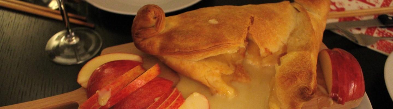 飯局前菜烤布里起司 baked brie