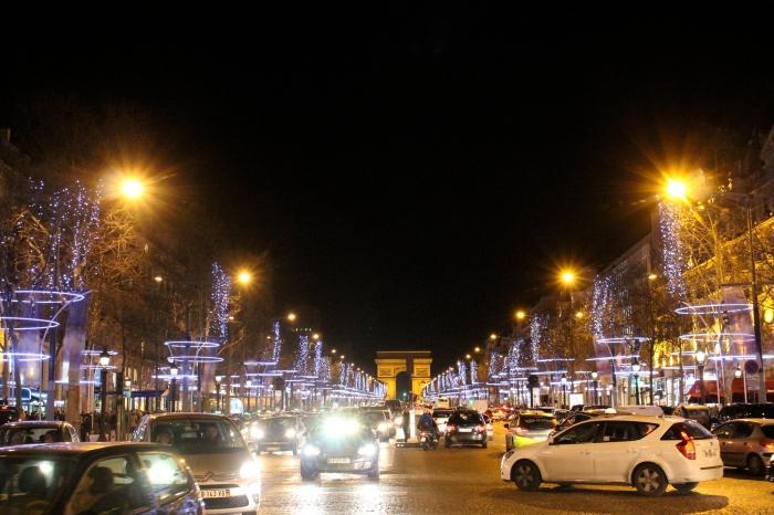 巴黎聖誕節晚上聖誕氣氛
