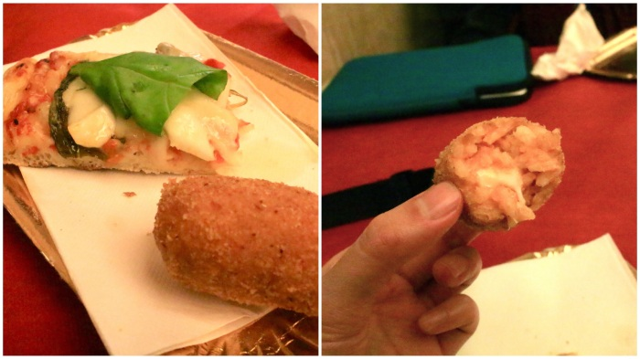 義大利厚皮薩和炸燉飯