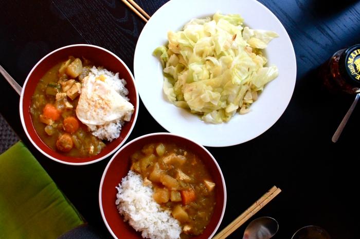 蔬食咖哩飯