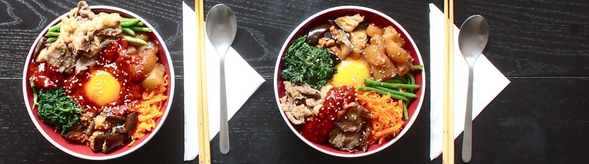 韓式拌飯初體驗 - Korean Bibimbap